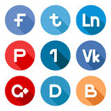 Vector social network buttons Stock Image