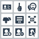 Vector social network icons set Royalty Free Stock Photo