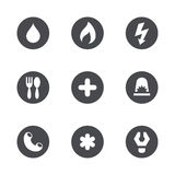 Vector social services icons set Stock Photography