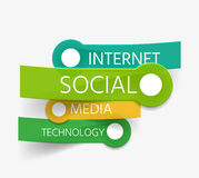 Vector social theme tag cloud of stickers Stock Image