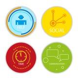 Vector sociale pictogrammen Stock Afbeelding