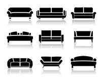 Vector sofa. Icons set. Interior Design. Vector Stock Photos