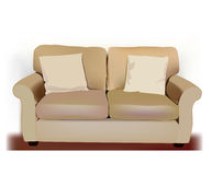 Vector sofa and pillows Royalty Free Stock Images