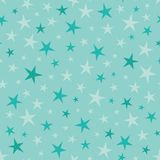Vector Soft Blue Green Stars Seamless Pattern Stock Photography