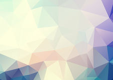 Vector soft blue pink triangles background Royalty Free Stock Photo
