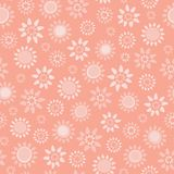 Vector soft coral floral seamless repeat pattern background. vector illustration