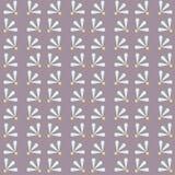 Vector Soft Daisies on Purple seamless pattern background. stock illustration