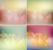 Vector soft  light blurred background retro color Stock Image