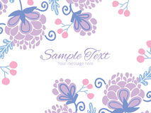 Free Vector Soft Purple Flowers Horizontal Double Stock Photo - 55353550