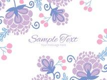 Vector soft purple flowers horizontal double Stock Photo