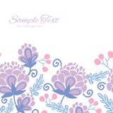 Vector soft purple flowers horizontal frame Stock Photography