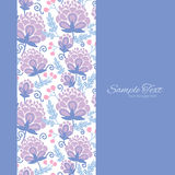 Vector soft purple flowers vertical frame seamless Royalty Free Stock Photography