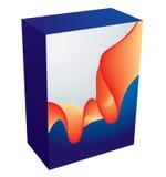 Vector software box. Clean 3D software box template Stock Photos