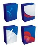 Vector software boxes. Clean 3D software box templates Stock Photos