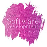 Vector software development  coding technology Stock Images