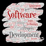 Vector software development project coding technology Stock Image