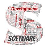 Vector software development project coding technology Stock Photo
