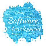 Vector software development project coding technology Royalty Free Stock Photos