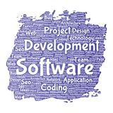 Vector software development project coding technology Stock Photos