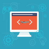 Vector software testing concept in flat style Stock Images