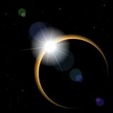 Vector Solar eclipse Royalty Free Stock Images