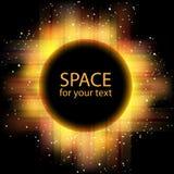 Vector solar eclipse Royalty Free Stock Photos