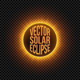 Vector solar Eclipse graphic Element Stock Images