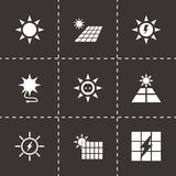 Vector solar energy icon set Royalty Free Stock Image