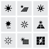 Vector solar energy icon set Royalty Free Stock Photography