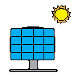 Vector of Solar Panel Color 8 bit. EPS8 . Royalty Free Stock Photo