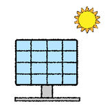 Vector of Solar Panel Color doodle. EPS8 . Stock Photography