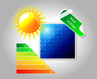 Vector solar panel. Icon. Stock Image