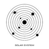 Vector Solar System with planets. Vector Illustration of the Solar System on white background Stock Photos