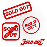 Vector sold out stamp. Vector image sold out stamp Royalty Free Stock Photos