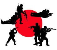 Vector soldiers army monochrome Royalty Free Stock Photography