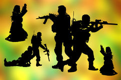 Vector man Soldiers army Royalty Free Stock Photo