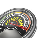 Vector solution conceptual meter indicator Royalty Free Stock Image