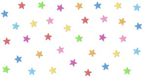 Some cute stars and so colorful. Vector of some stars. Colorful stars on my table, so cute and sweet vector illustration