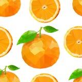 Vector Sommermuster mit Orangen, Blumen und Blättern Nahtloses Muster vektor abbildung