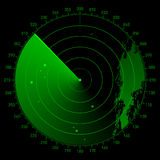 Vector sonarwerkingsgebied vector illustratie