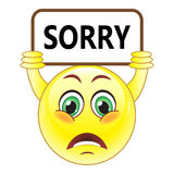 Vector sorry symbol Stock Photos