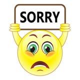 Vector sorry symbol. Stock Image -Vector sorry symbol stock illustration