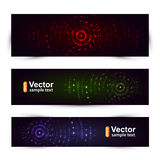 Vector sound banners Royalty Free Stock Photography