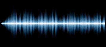 Sound diagram blue. Vector sound diagram, abstract music background vector illustration