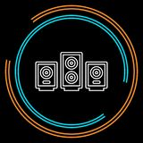 Vector sound system speakers - music icon royalty free illustration