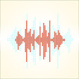 Vector sound wave. Royalty Free Stock Photos