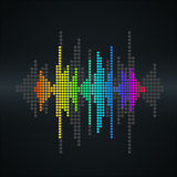 Vector sound wave. Royalty Free Stock Photo