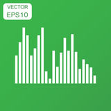 Vector sound waveform icon. Business concept Sound waves and mus Royalty Free Stock Photography