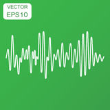 Vector sound waveform icon. Business concept Sound waves and mus Stock Photos