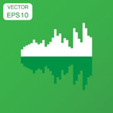 Vector sound waveform icon. Business concept Sound waves and mus Stock Images
